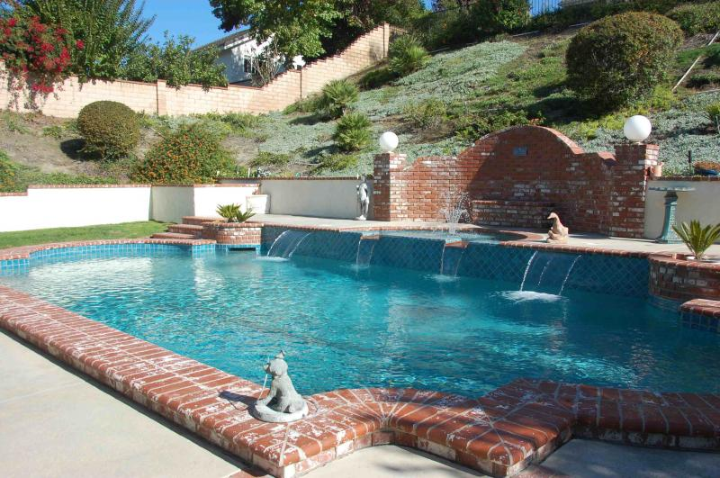 After retile of pool in Laguna Hills - Little Tile Inc